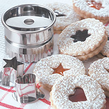 Linzer cookie set